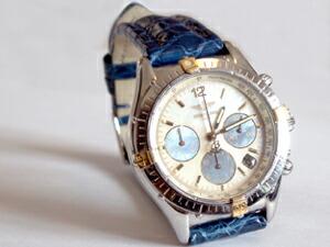 時計ベルトをモレラートのティポブライトリングに交換したブライトリング クロノコックピット