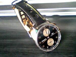 時計ベルトをモレラートのジョットに交換したIWC ポルトギーゼクロノグラフ