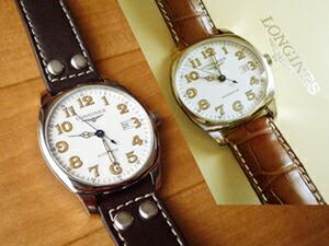 時計ベルトをモレラートのアンコラに交換したロンジン・スピリット