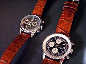 時計ベルトをモレラートのボーレに交換したブライトリング オールドナビタイマー