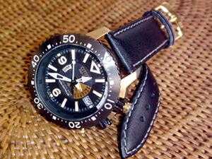時計ベルトをモレラートのRENOIRに交換したシチズン プロマスター