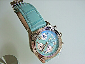 時計ベルトをモレラートのボーレに交換したブライトリング クロノコックピット