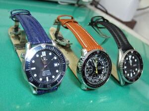 時計ベルトをモレラートのティポ・ブライトリング・クオイオに交換したSEIKOパイロットクロノ