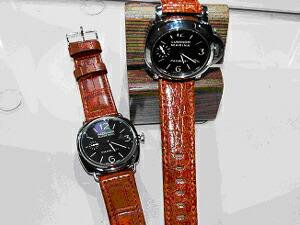 時計ベルトをモレラートのティポパネライに交換したパネライ ラジオミールブラックシール パネライ ルミノールマリーナ