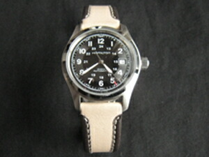 時計ベルトをモレラートのスラロームに交換したHAMILTON カーキフィールドオート