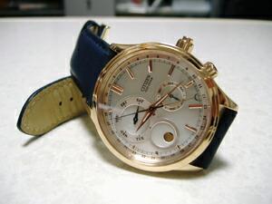 時計ベルトをモレラートのGRAFICに交換したCITIZEN eco-drive complication
