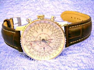 時計ベルトをモレラートのプラスに交換したブライトリング モンブリラン ダトラ