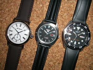 時計ベルトをモレラートのケイマンに交換したSEIKO5