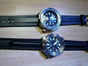 時計ベルトをモレラートのケイマンに交換したSEKO SKX779K3