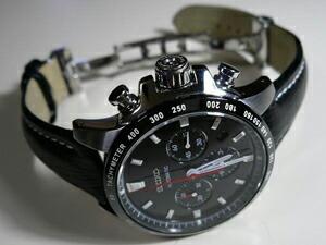 時計ベルトをモレラートのティポ・ブライトリング・クオイオに交換したSEIKO SAGK001