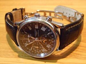 時計ベルトをモレラートのプラスに交換したロンジンマスターコレクションL2.673.4.51.6