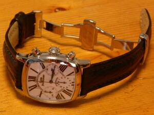 時計ベルトをモレラートのONTARIOとDEPLOJANTE/PBに交換したDaniel Jean Richard クロノ