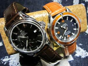 時計ベルトをモレラートのルイジアナに交換したOMEGA DeVille Co-Axial Power reserve