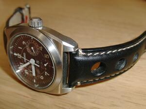 時計ベルトをモレラートのジョットに交換したセイコークォーツ