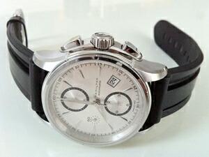 時計ベルトをモレラートのマリナーに交換したジャズマスター オートクロノ H32616553