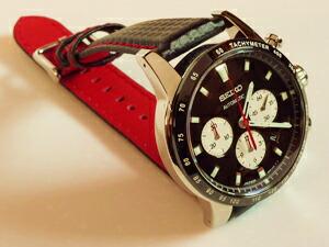 時計ベルトをモレラートのバイキングに交換したセイコー5ブライツフェニックスSAGK003