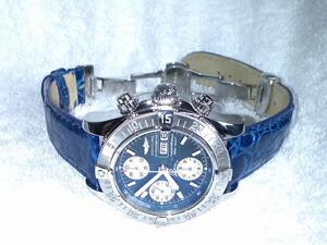 時計ベルトをモレラートのアマデウスに交換したブライトリング クロノスーパーオーシャン