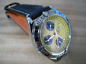 時計ベルトをモレラートのROUSSEAUに交換したブライトリング クロノマット ロンジチュート クロノグラフ