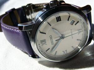 時計ベルトをモレラートのグラフィックに交換したSEIKO SNM001K1
