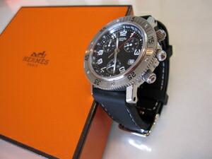 時計ベルトをモレラートのカレッツァに交換したエルメスクリッパーダイバークロノグラフ