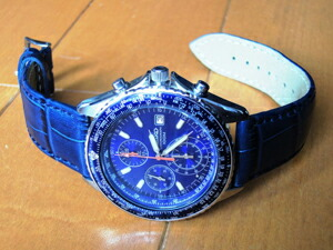 時計ベルトをモレラートのボーレに交換したSEIKOパイロットクロノグラフSND255
