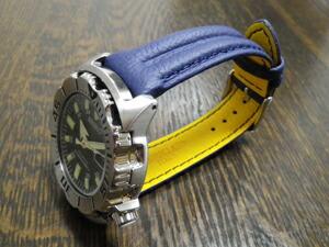 時計ベルトをモレラートのアクションに交換したセイコーダイバーズモンスター黒