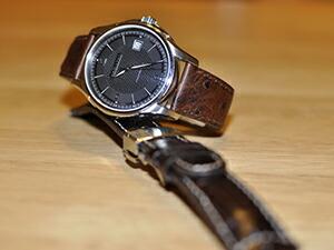 時計ベルトをモレラートのシャガールに交換したHAMILTON Jazzmaster Viewmatic