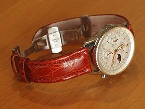 時計ベルトをモレラートのティポブライトリングに交換したブライトリング モンブリリアントオリンパスA19030