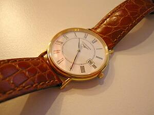 時計ベルトをモレラートのリバプールに交換したロンジングランドクラシック