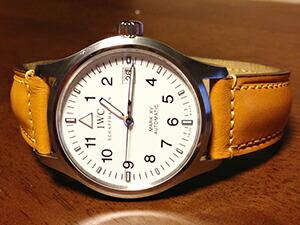 時計ベルトをモレラートのドナテロに交換したIWC マーク15