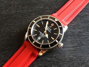 時計ベルトをモレラートのマリナーに交換したブライトリング スーパーオーシャン46