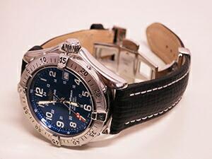 時計ベルトをモレラートのティポブライトリングクオイオに交換したブライトリング スーパーオーシャン