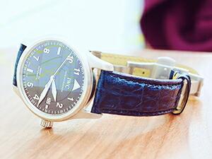 時計ベルトをモレラートのアマデウスに交換したIWC MARK15 SPITFIRE