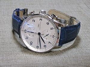 時計ベルトをモレラートのアマデウスに交換したIWC ポルトギーゼ・クロノグラフ