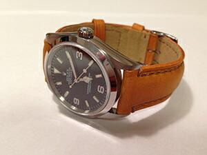 時計ベルトをモレラートのドランに交換したROLEX EXPLORER