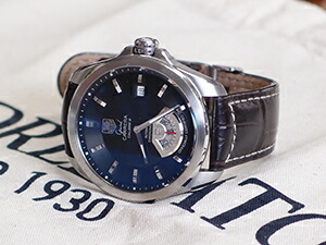 時計ベルトをモレラートのグットゥーゾに交換したTAGHeuer GRAND CARRERA