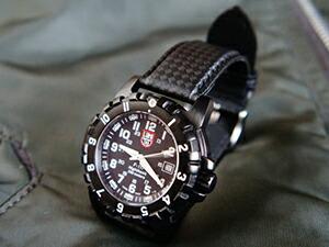 時計ベルトをモレラートのバイキングに交換したLUMINOX3000シリーズ