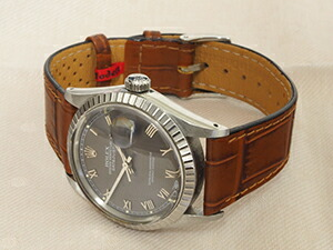 時計ベルトをモレラートのカラカスに交換したROLEX デイトジャスト(1988年製)