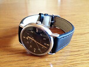 時計ベルトをモレラートのアベーテに交換したIWC ポートフィノ