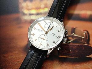 時計ベルトをモレラートのカラテに交換したIWC ポルトギーゼクロノ