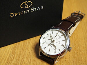 時計ベルトをモレラートのエリートに交換したOrient Star Retrograd