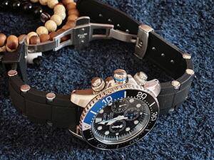 時計ベルトをモレラートのユーフラテに交換したセイコーソーラークロノグラフダイバー