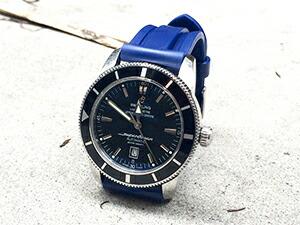 時計ベルトをモレラートのマリナーに交換したブライトリング スーパー オーシャン46