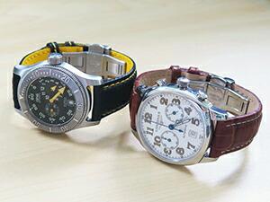 時計ベルトをモレラートのプラスに交換したLONGINESスピリットクロノグラフ