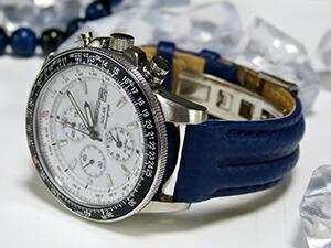 時計ベルトをモレラートのスピードに交換したセイコーソーラークロノグラフSSC013P1