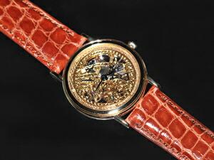 時計ベルトをモレラートのアマデウスに交換したセイコークレドールGBBD998