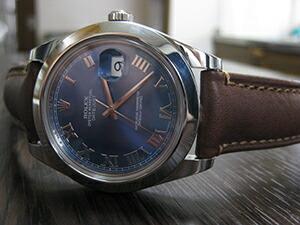 時計ベルトをモレラートのドランに交換したROLEX DATEJUST2 116300