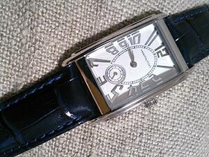 時計ベルトをモレラートのサンバに交換したHAMILTON Ardmore Quartz