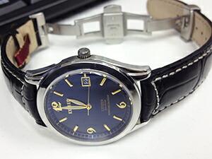 時計ベルトをモレラートのGUTTUSO(グットゥーゾ) に交換したシチズン エクシード パーペチュアルカレンダー