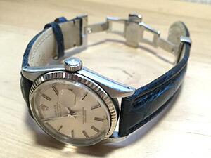 時計ベルトをモレラートのティポブライトリング3に交換したROLEX OYSTER PERPETUAL DATEJUST
